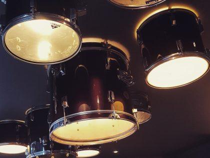 Bass drum ceiling light