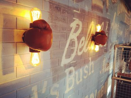 Boxing glove wall light 2